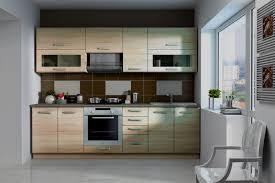 küche eiche hell küche ben 260 cm küchenzeile küchenblock variabel stellbar in