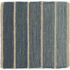 bold blue striped wool blend dhurrie 3 u0027x5 u0027 rug crate and barrel