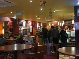 Christmas Decorations For Coffee Shops by File Christmas Eve Coffee Shop Scene Monmouth Geograph Org Uk