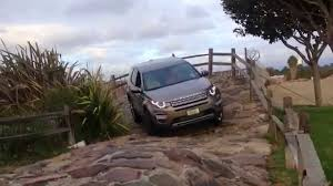 land rover track land rover discovery sport on the dealer test track rock course
