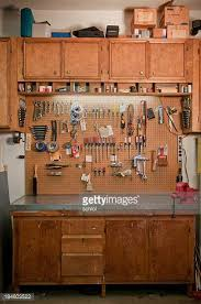 Tool Bench For Garage Workbench Stock Photos And Pictures Getty Images