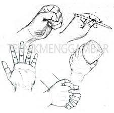 tutorial menggambar orang dengan pensil cara menggambar telapak tangan teknik menggambar