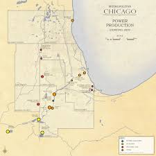 Metro Chicago Map by Metropolitan Chicago Land Use Industrial