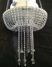 Swing From The Chandelier Faux Crystal Chandelier Style Drape Suspended Swing Cake Stand