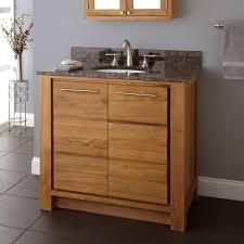 Teak Bathroom Storage Impressing 36 Venica Teak Vanity For Undermount Sink