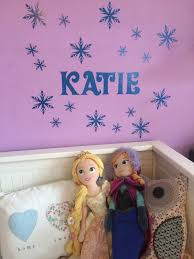 personalised frozen style snowflake name wall sticker for girls frozen glitter snowflake personalised name wall sticker