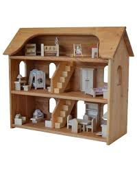 Dollhouse Furniture And Accessories Elves by Seri U0027s Dollhouse In Hardwood With 5 Rooms Of Furniture Set Elves