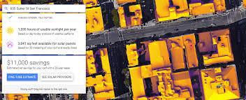google u0027s project sunroof uses maps to calculate solar panel savings