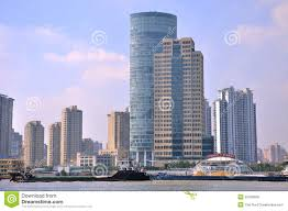 modern buildings in shanghai bund china editorial stock photo
