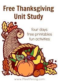 free thanksgiving unit study lesson plan and printables unit