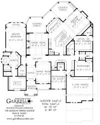 Free Ranch House Plans by The Meadow Spring Manor House Plan House Plans By Garrell