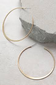 gold hoop earrings chic gold earrings hoop earrings post back earrings 12 00