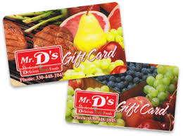food gift cards mr d s foods