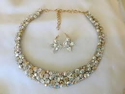 crystal collar statement necklace images Swarovski champagne crystal pearl mosaic bridal collar statement jpeg