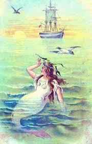 Mermaid Fairy Vintage Clip Art Beautiful Mermaid The Graphics Fairy