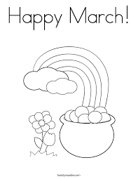 March Coloring Pages Free happy march coloring page twisty noodle