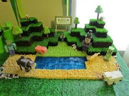 minecraft birthday cake ideas of a vertically challenged minecraft birthday party time