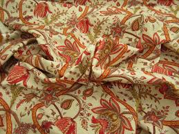 decoration amazing cerise color drapery fabric in floral pattern