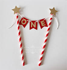 one cake topper and gold glitter one cake topper one cake bunting 1st