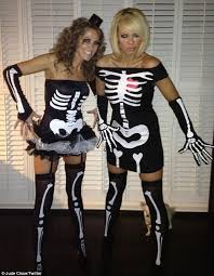 Womens Skeleton Halloween Costume Halloween 2012 Liz Mcclarnon Jude Cisse Dress Skeletons