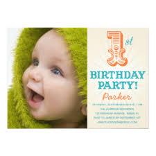 baby first birthday invitations u0026 announcements zazzle