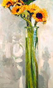 Vase Of Sunflowers Sunflowers In A Tall Vase James Brandess