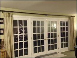 patio door curtain rod without center support patios home