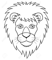 printable coloring pages lion face coloring page free