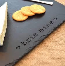 engraved platters engraved slate brie mine platter by winning works