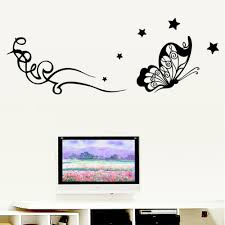 Bedroom Wall Decals For Adults 3d Flying Butterfly And Vine Star Wall Sticker Wall Decal Easily