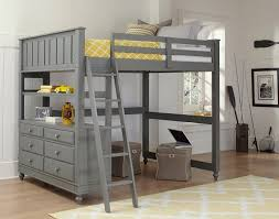 Loft Bed With Crib Underneath Ne Lake House High Loft Bed Grey N Cribs