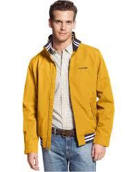 tommy hilfiger regatta jacket in yellow for men lyst