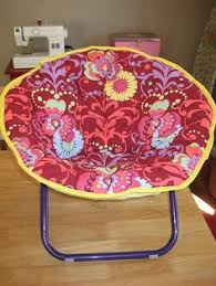 saucer chair cover recovering kid s saucer chair thrift yard sale and craft