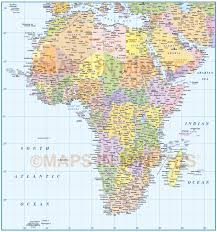 Maps Of Africa by Digital Vector Africa Map Political Style In Illustrator And And