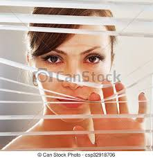 observes through blinds look of who observes stock