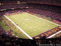 mercedes dome orleans mercedes superdome section 631 seat views seatgeek