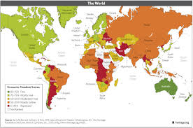 New World Order Map by Download Index Of Economic Freedom Data Maps And Book Chapters