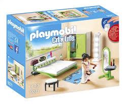 playmobil chambre des parents playmobil city 9271 chambre avec espace maquillage collishop
