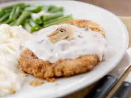 country fried steak with caramelized onion gravy recipe