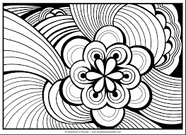 spectacular abstract doodle art coloring pages printable with
