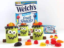 fruit treats frankenstein snack cups filled with welch s fruit snacks for