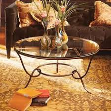 38 round coffee table have to have it steve silver xavier round chrome and glass coffee