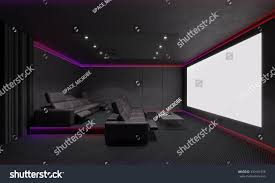 home theater interior 3d illustration stock illustration 339101978