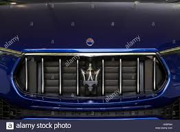 maserati trident logo turin italy 8th june 2016 logo and radiator grille on maserati