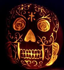 pumpkin stencil skull sugar skull pumpkin by davidjoseortiz on deviantart