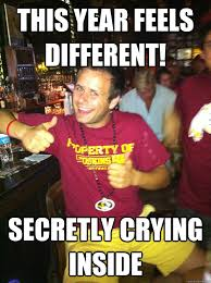Redskins Meme - this year feels different secretly crying inside overly