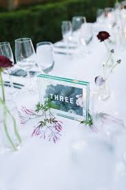acrylic table numbers wedding picture of double acrylic table numbers printed on green paper for a