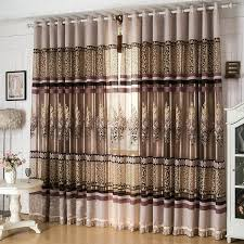 Brown Blackout Curtains Best New Arrival Window Screen Curtain Finished Product Luxury