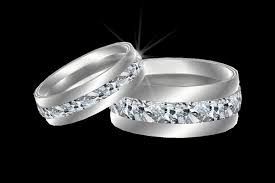 his and hers wedding bands second marketplace platinum diamond his hers wedding band