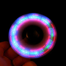 a light up fidget spinner led light high speed bearing tri spinner fidget edc fidget spinner